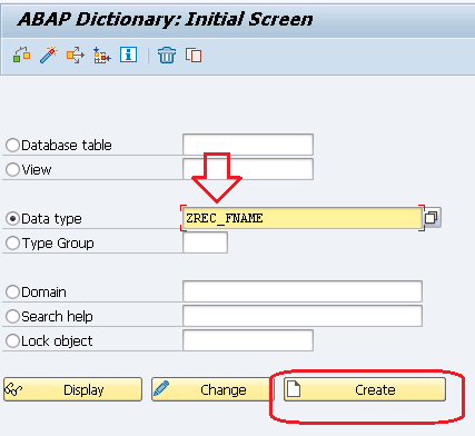 DATA ELEMENT SAP ABAP
