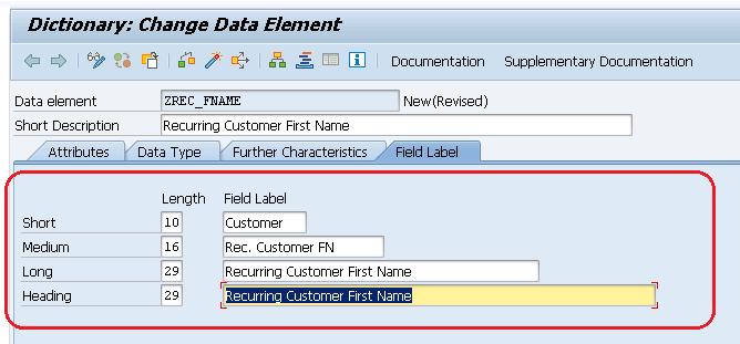 ABAP for BI Tutorials - Creating Data element in SAP ABAP