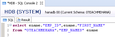 SAP HANA SQL SCRIPT CALCULATED COLUMN SQL ALIAS