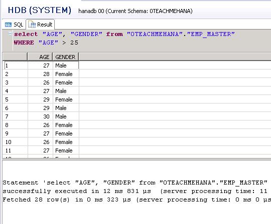 SAP HANA SQL SCRIPT SQL WHERE NOT LIKE CONDITION