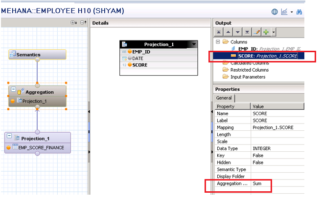 Aggregation in Calculation View - SAP HANA Tutorial