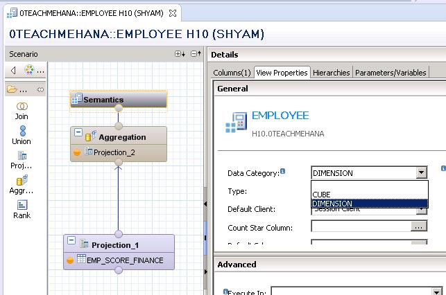 Aggregation in Calculation View - SAP HANA Tutorial