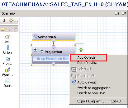 HANA Table Function in Calculation view - SAP HANA SQL