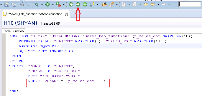 SAP HANA Table Function - SAP HANA SQL Tutorial - Part (3/3)
