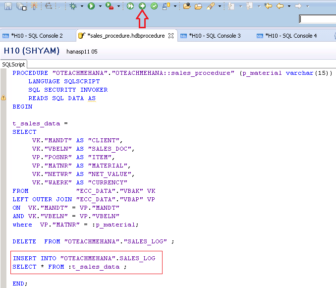 SAP HANA Stored procedures -SAP HANA Tutorial (4/4)