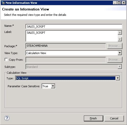 SAP HANA Scripted Calculation View