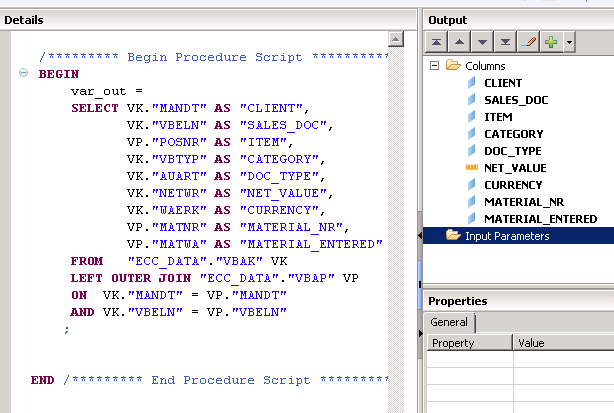 SAP HANA Scripted Calculation view filters - SAP HANA SQL