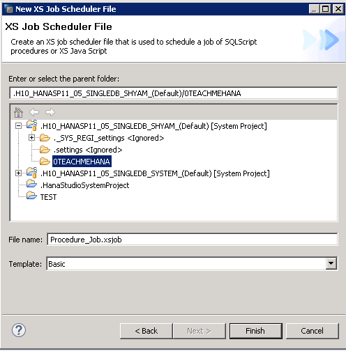 SAP HANA XS Job - SAP HANA Tutorial