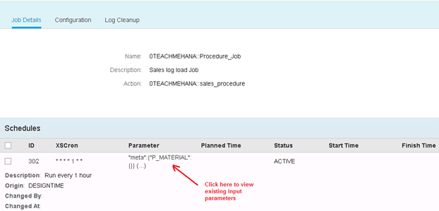 Scheduling SAP HANA XS JOB Tutorial