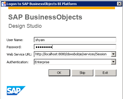 SAP Business Objects Design Studio