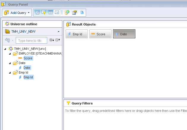 SAP Business Objects WebI