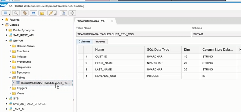 hdbdd table cds sap hana